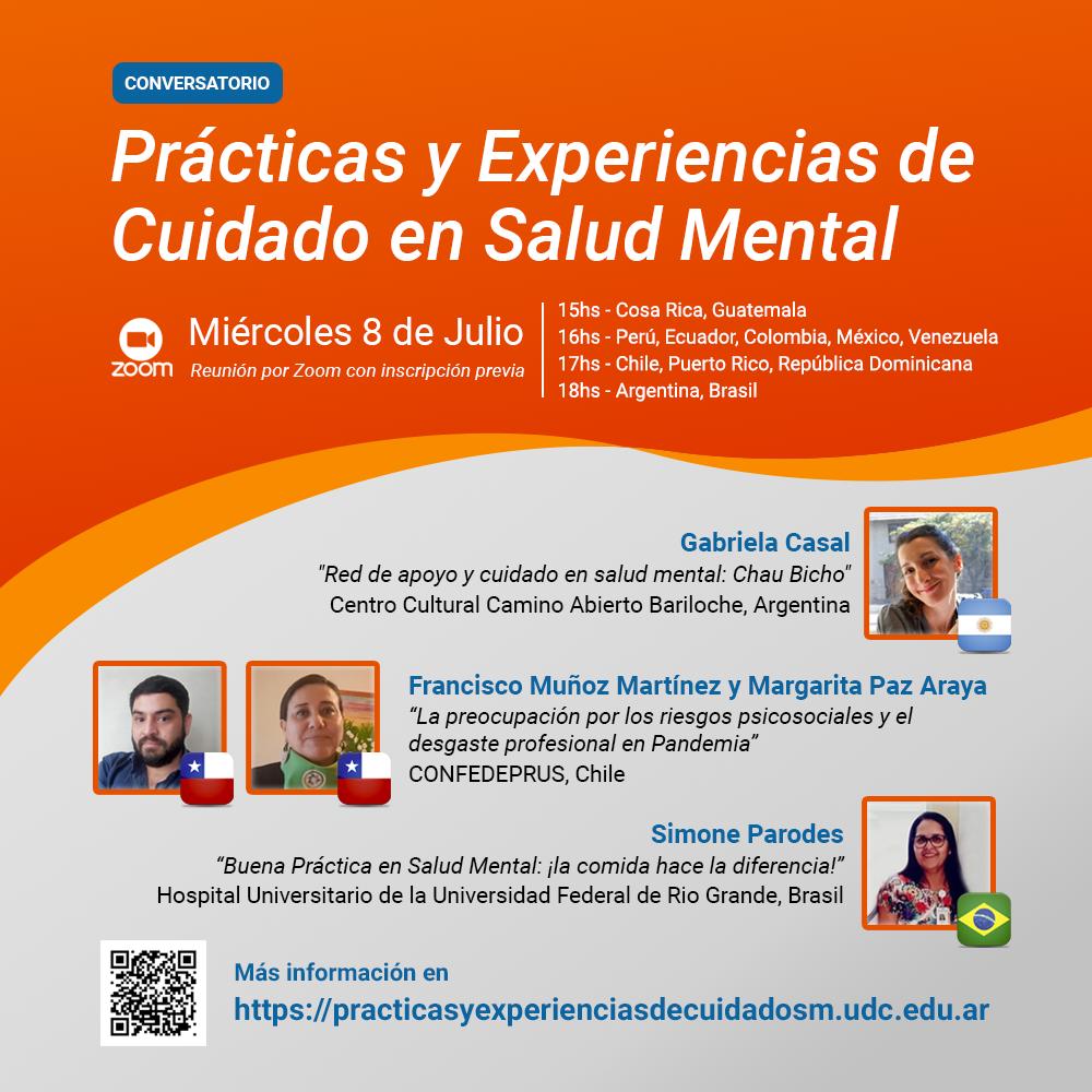"""Conversatorio """"Prácticas y Experiencias de Cuidado en Salud Mental"""""""