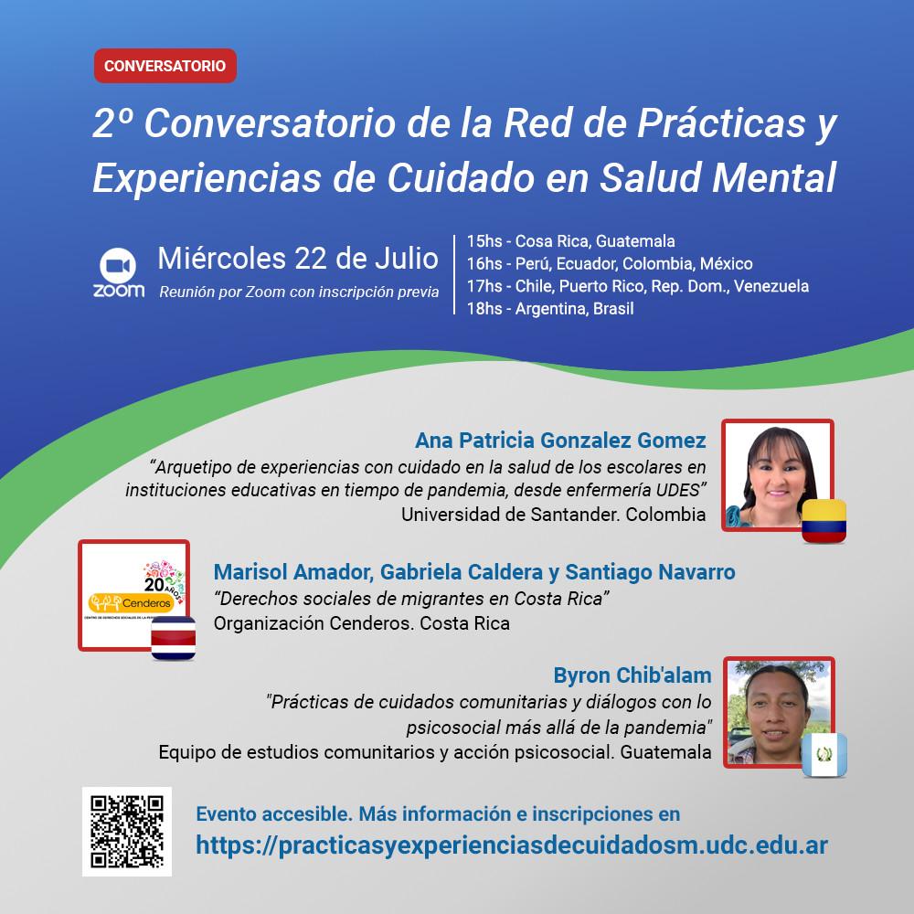 Flyer - 2º Conversatorio de la Red de Prácticas y Experiencias de Cuidado en Salud Mental