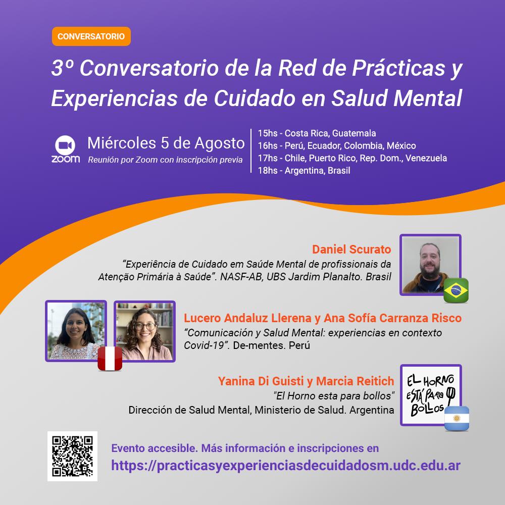 Flyer - 3º Conversatorio de la Red de Prácticas y Experiencias de Cuidado en Salud Mental
