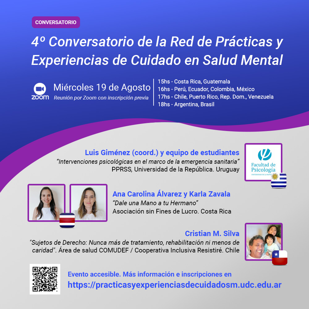 Flyer 1 - 4º Conversatorio de la Red de Prácticas y Experiencias de Cuidado en Salud Mental